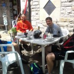 Wild Futures cycle team have lunch at Luss