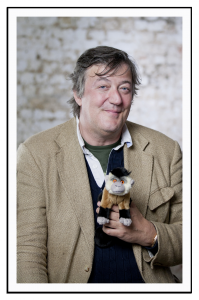 Stephen Fry adopts Joey the monkey